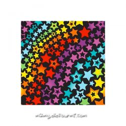 Lycra rainbow stars