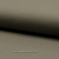 Lin/coton stretch vert de gris