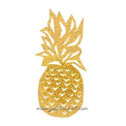 Motif flex ananas pailleté doré