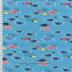 Viscose fish turquoise
