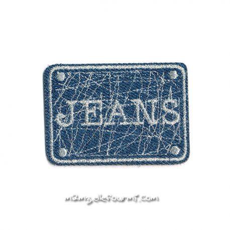 Patch thermocollant jeans bleu