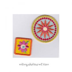 Patch thermocollant flowers