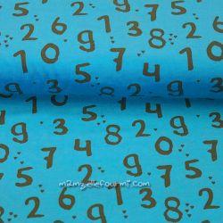 Jersey bio chiffres turquoise