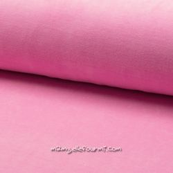 Jersey velours Oeko-Tex rose barbie