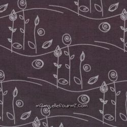 Jersey charlotte feuillu prune