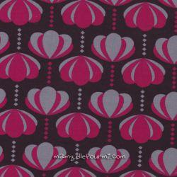 Jersey charlotte fleurs prune