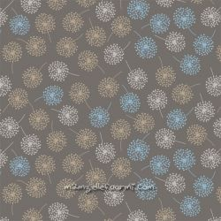 Jersey mini dandelions taupe