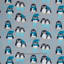 Softshell imprimé pingouins bleu