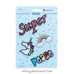Lot de patches thermocollants super peace