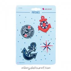 Lot de patches thermocollants marine anchor
