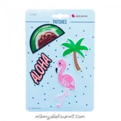 Lot de patches thermocollants aloha watermelon