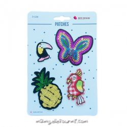 Lot de patches thermocollants butterfly pineapple