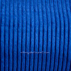 Velours grosses côtes bleu roi