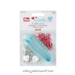 Pressions Prym love jersey rouge