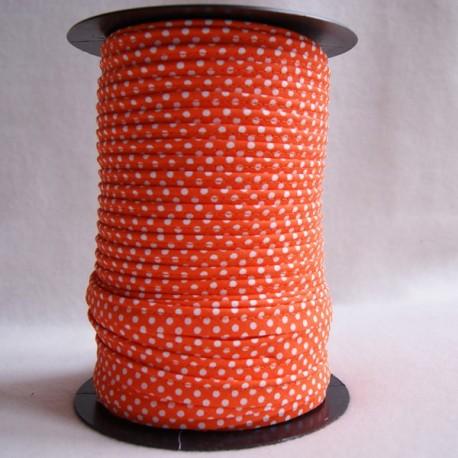 Passepoil à pois orange