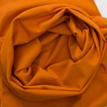 Bord-côte bio tubulaire orange/cannelle