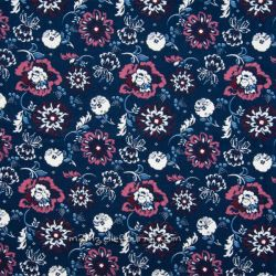 Velours bouquet navy