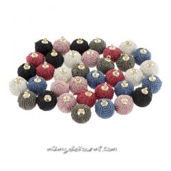 Pompon rond velours