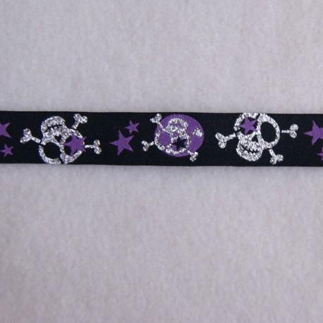 Ruban skulls violet