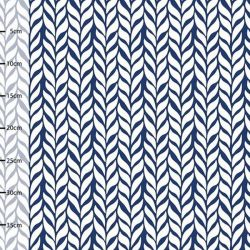 Jersey bio plait blanc/blueberry