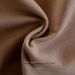 Velours milleraies stretch sable