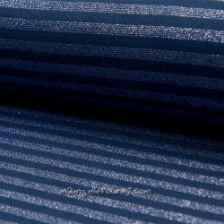 Bord-côte lurex rayé marine/bleu