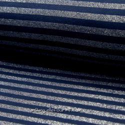 Bord-côte lurex rayé navy/argent