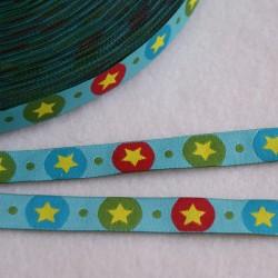 Ruban pois-étoiles bleu