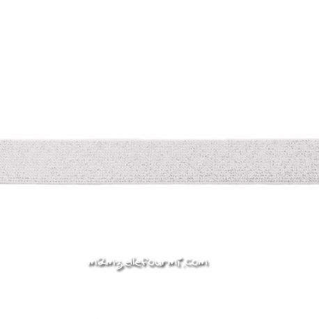 Élastique 25 mm lurex ivoire