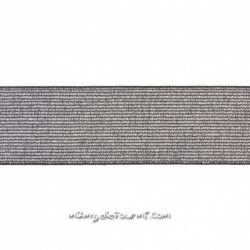 Élastique métallisé argent 40mm