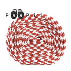 Bord-côte bio rayé rouge/blanc