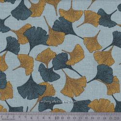 Viscose/lin gingko moutarde/pétrole