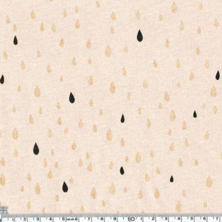 Jersey pluie d'or black/nude