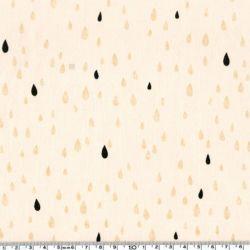 Polycoton pluie d'or black/nude