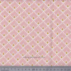 Cretonne écailles dorées rose