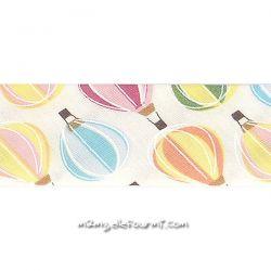 Biais montgolfières pastel