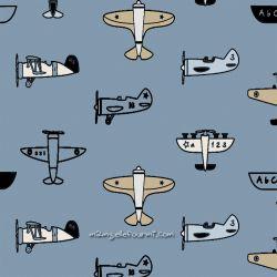 Sweat/molleton avions bleu