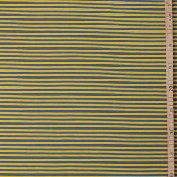 Jersey bio stretch rayé jaune/bleu
