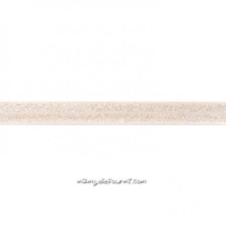 Biais élastique préplié scintillant sable