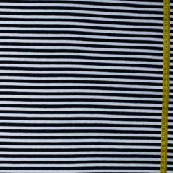 Jersey bio stretch rayé noir/blanc