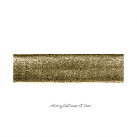 Biais stretch métal or foncé