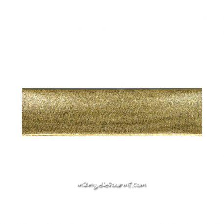 Biais stretch métal or clair