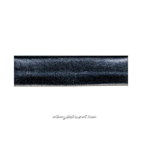 Biais stretch métal noir