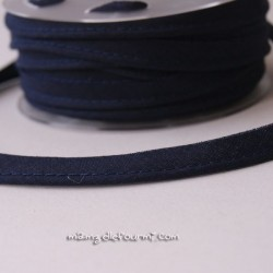 Passepoil uni bleu marine