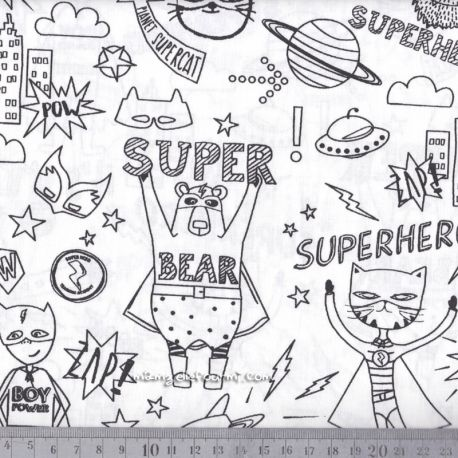 Coton à colorier superhero