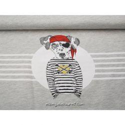 Jersey panneau pirate gris