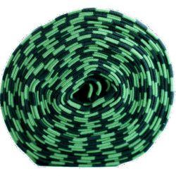 Bord-côte bio rayé noir/vert forêt