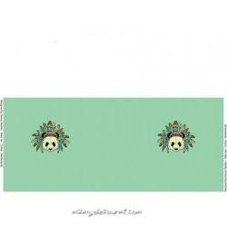 Jersey panneau indian panda vert