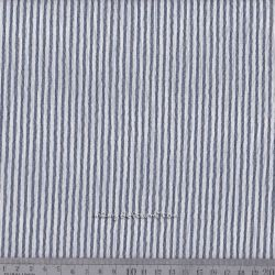 Seersucker rayé marine