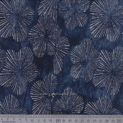 Jersey punta fleurs indigo